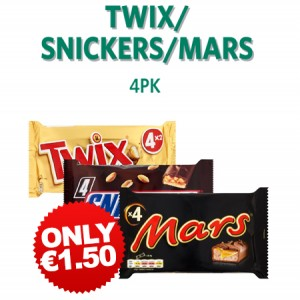 MarsSnickersTwix